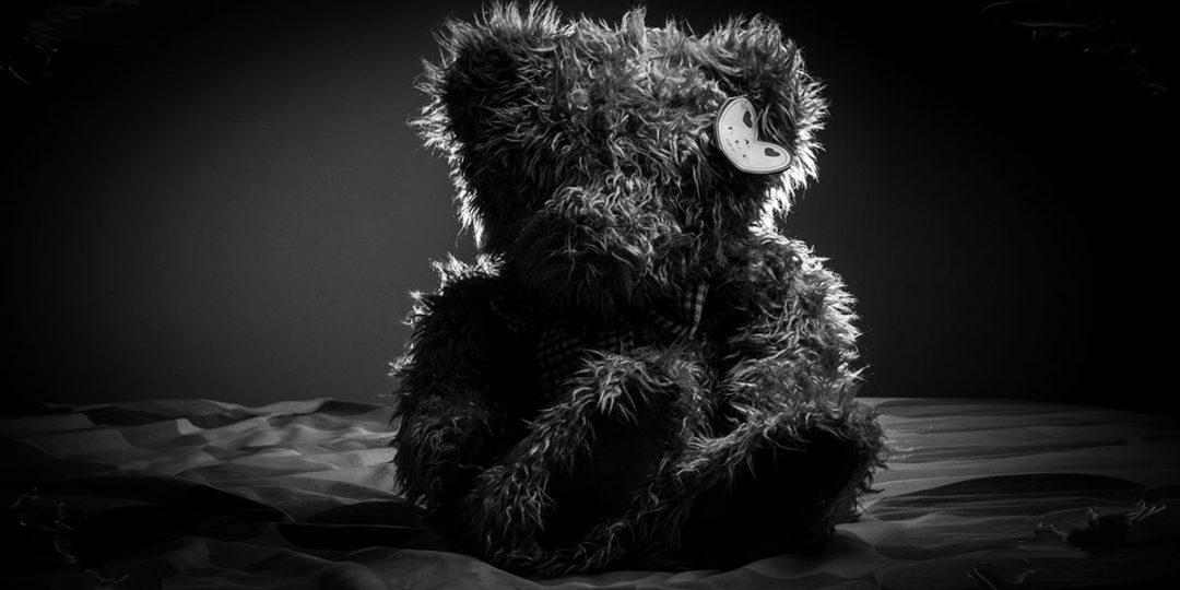 Dark teddy bear
